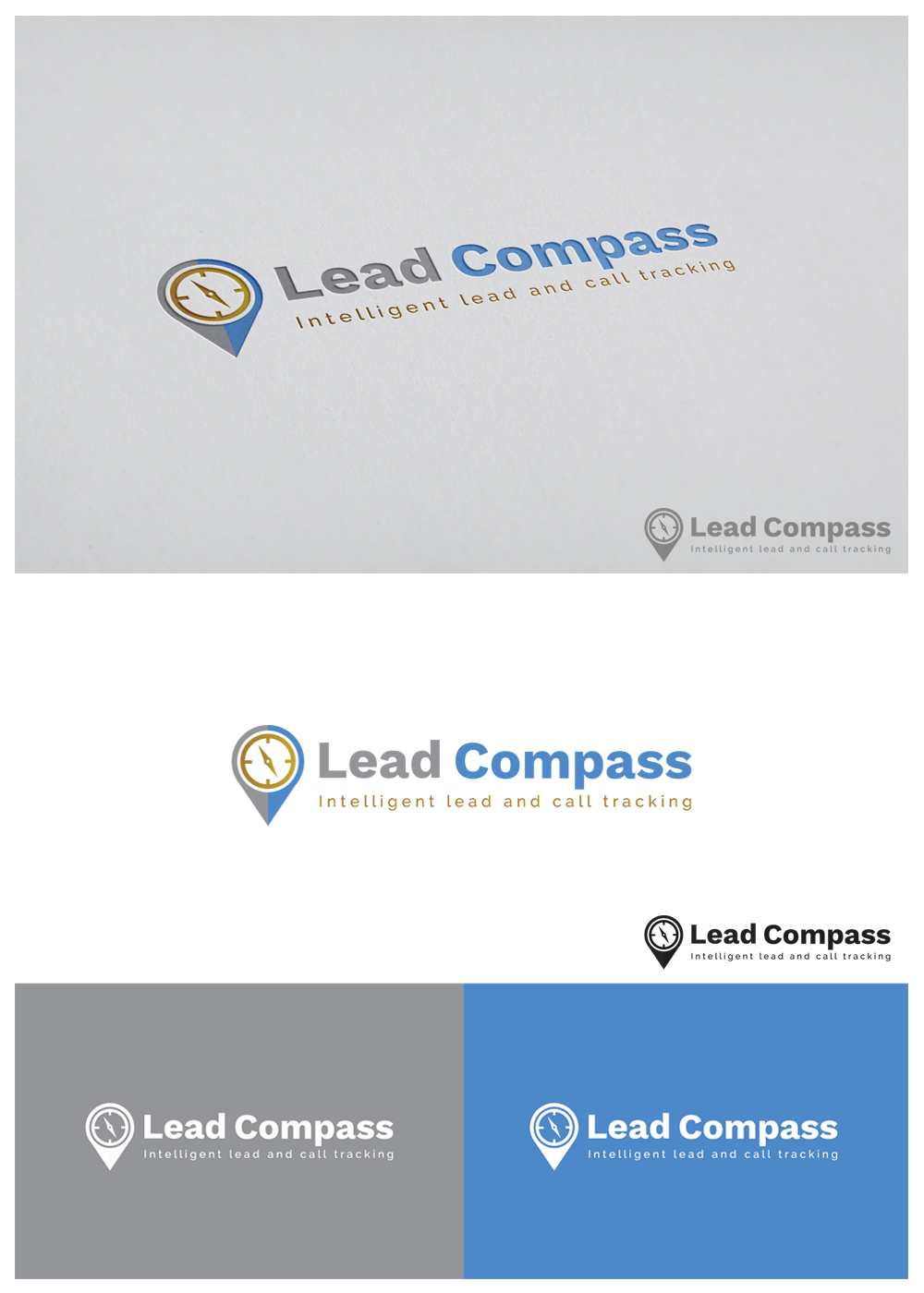 Modern professional business software logo design for lead compass logo design by goranvisnjic82 for this project design 18182485 reheart Image collections