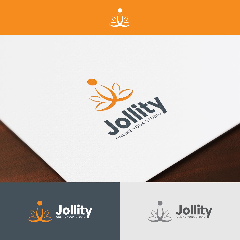 Modern Bold Fitness Logo Design For Jollity Online Yoga Studio By Flint Stone Design 17911416