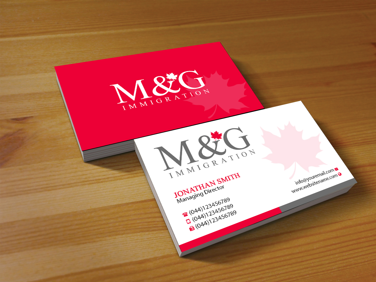 Bold conservative consulting business card design for mg bold conservative consulting business card design for mg immigration in canada design 17909067 reheart Choice Image