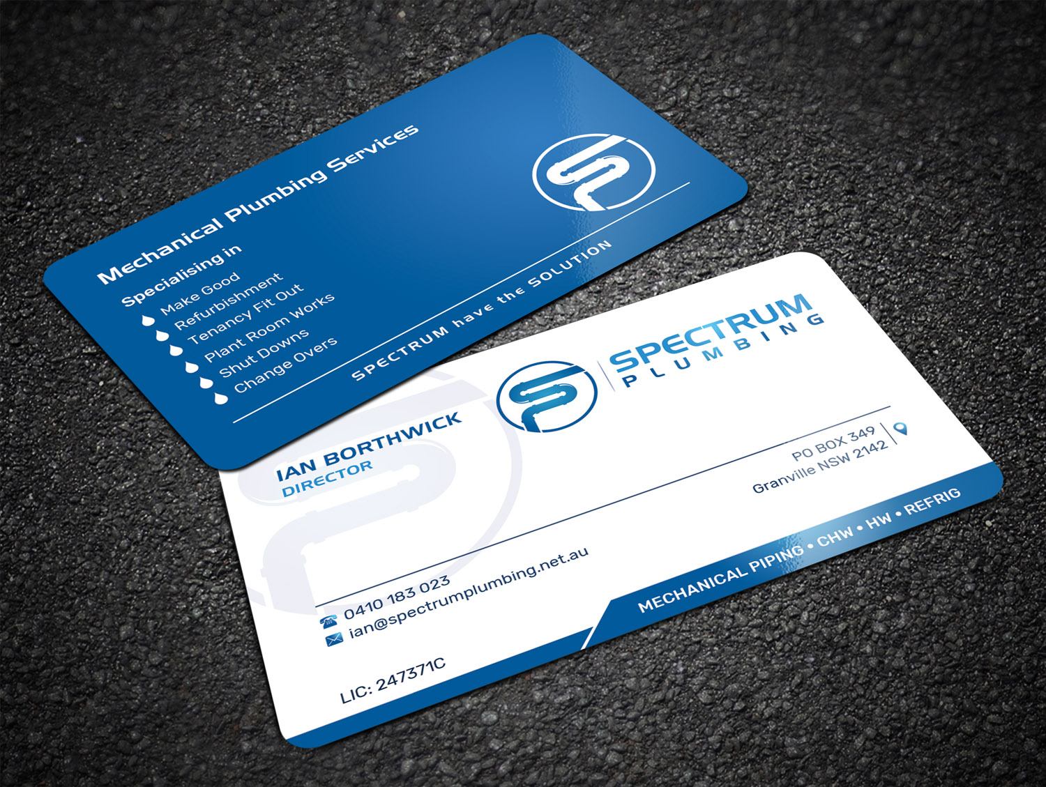 Professional serious plumbing business card design for spectrum business card design by sandaruwan for spectrum plumbing design 17960664 colourmoves