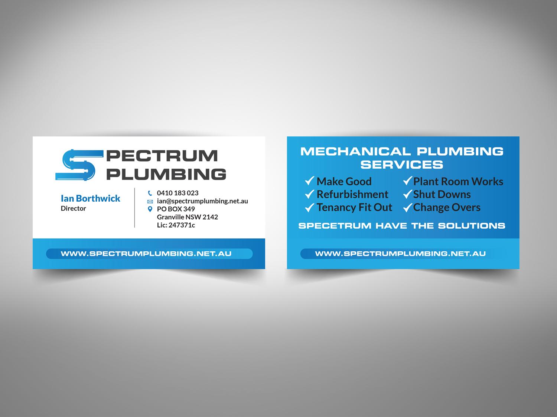 Professional, Serious, Plumbing Business Card Design for Spectrum ...