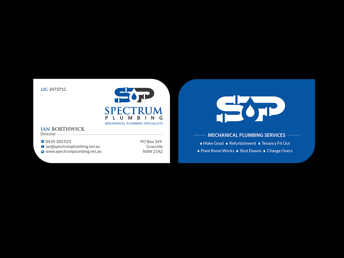 185 Professional Business Card Designs   Plumbing Business Card ...