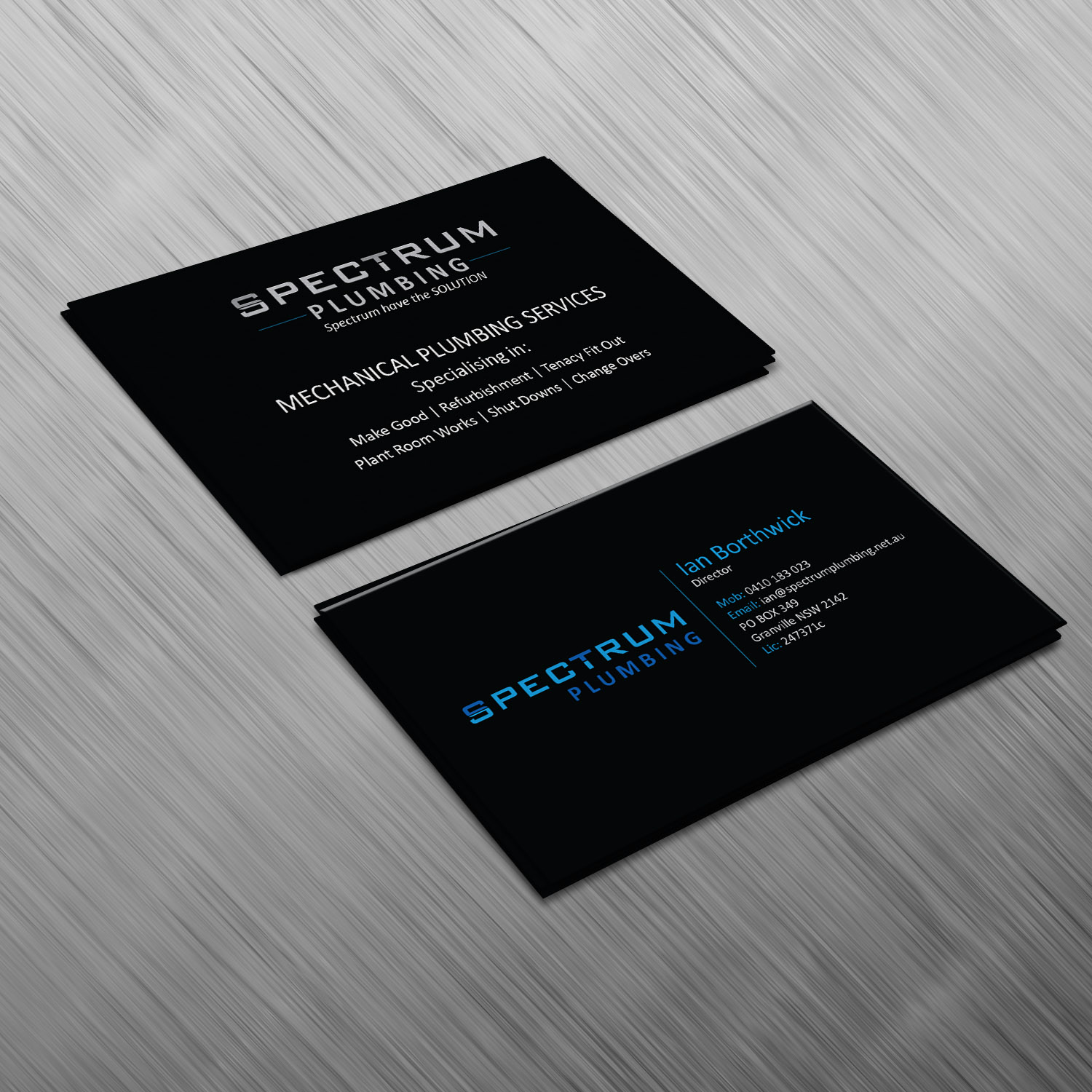 Professional serious plumbing business card design for spectrum business card design by creative jiniya for spectrum plumbing design 17947491 colourmoves