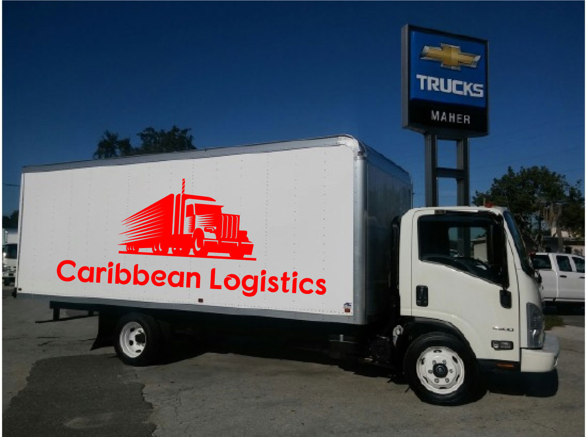 It Company Logo Design for Caribbean Logistics by Creative
