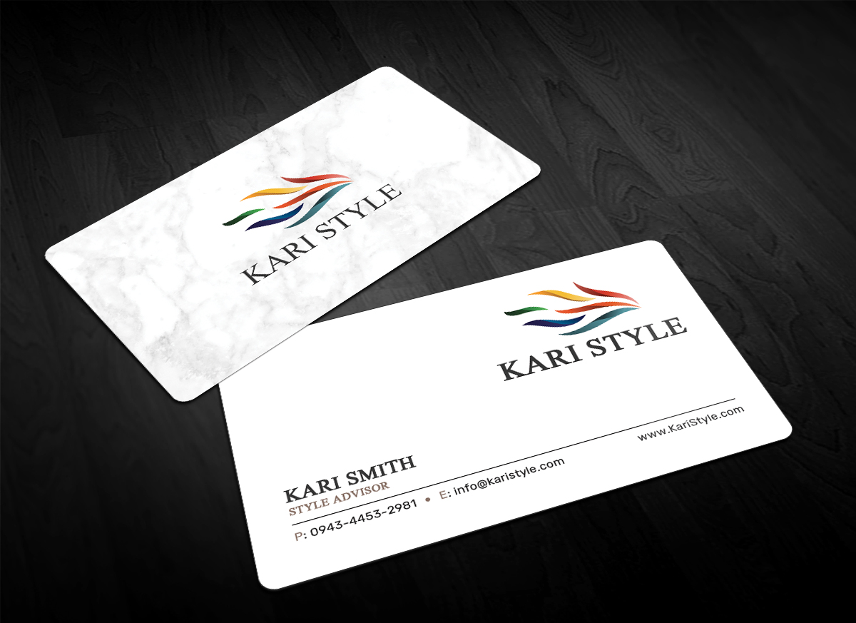 Elegant modern life coaching business card design for kari style business card design by sandaruwan for this project design 17911519 reheart Image collections