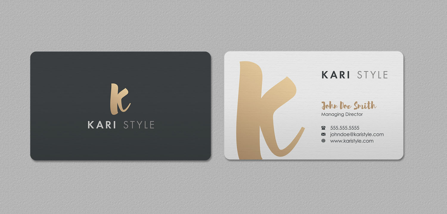 Elegant modern life coaching business card design for kari style business card design by indianashok for this project design 17902649 reheart Image collections