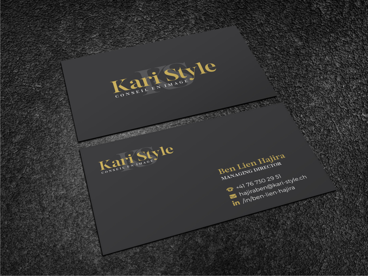 Elegant modern life coaching business card design for kari style business card design by atvento graphics for this project design 17939444 reheart Image collections