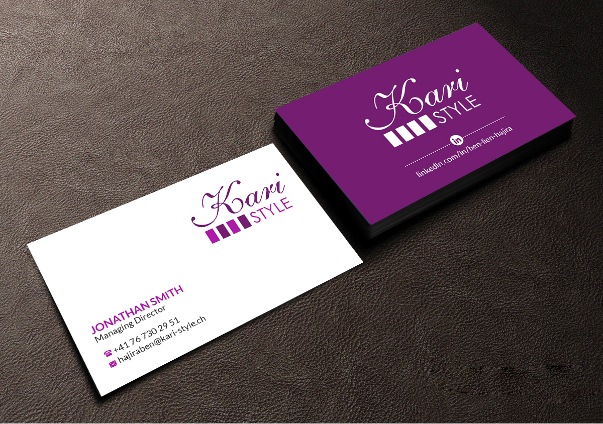 Elegant modern life coaching business card design for kari style business card design by creations box 2015 for this project design 17925843 reheart Image collections