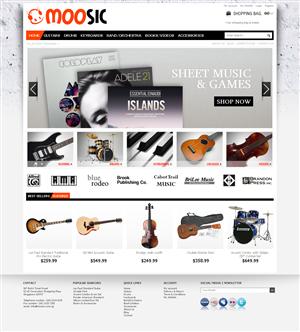 Web Design job – Magento Template Design Music Store – Winning design by Subluma