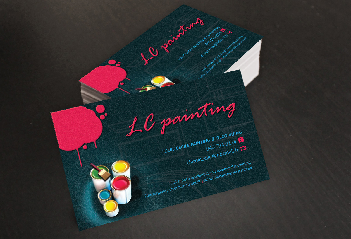 Painting And Decorating Business Card Designs Mafiamedia