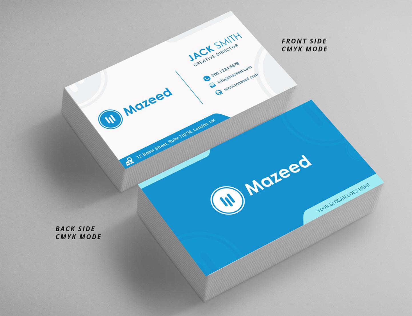Design De Carte Visite Financial Pour A Company En Aux United States