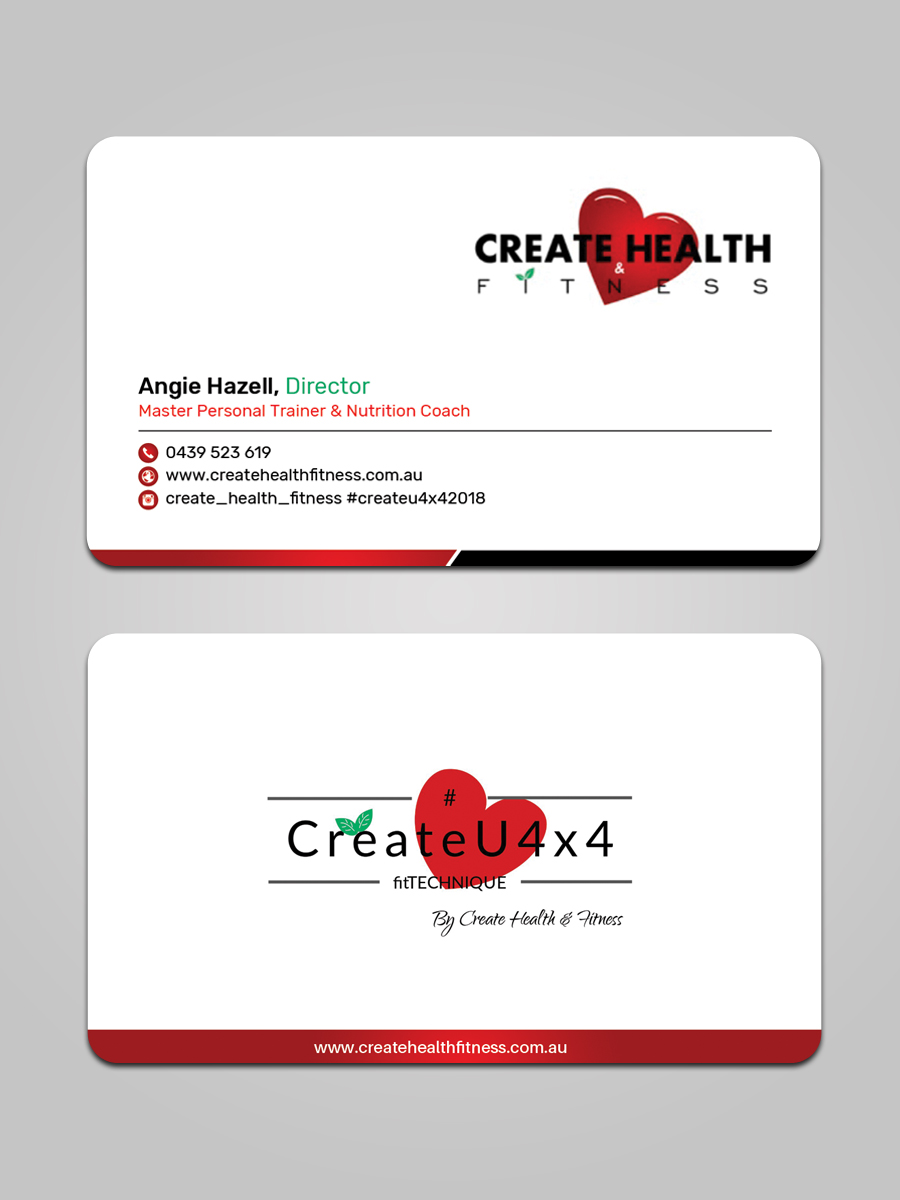 Modern, Upmarket, Health And Wellness Business Card Design for ...