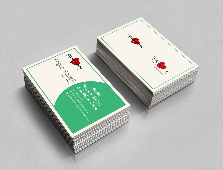 Design De Carte Visite Moderne Haut Gamme Health And Wellness Pour Create Fitness En Aux Australia