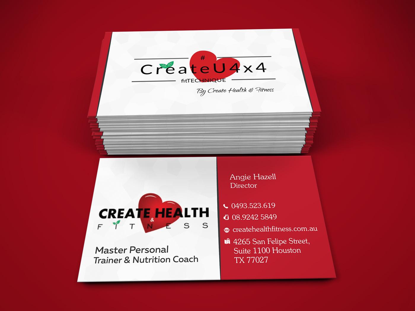 Modern, Upmarket, Health And Wellness Business Card Design for ...