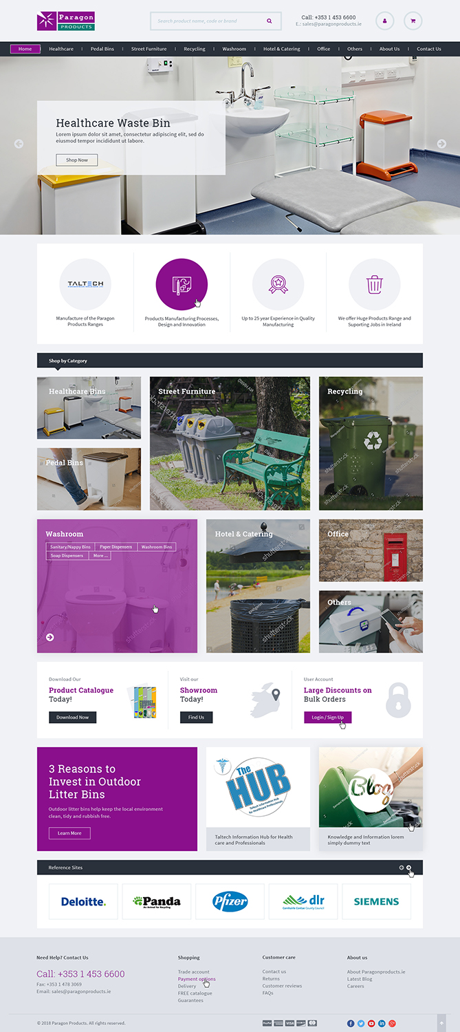Bold, Modern, Manufacture Web Design for Cillianbc.com by Ved Web ...