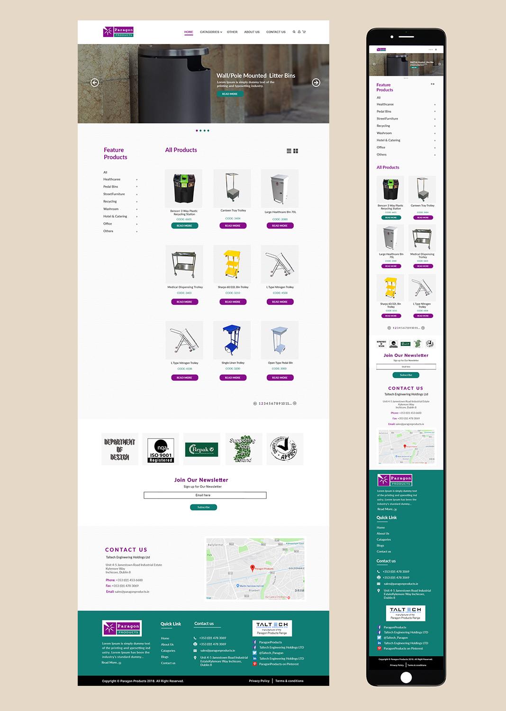 Bold, Modern, Manufacture Web Design for Cillianbc.com by bdesigner9 ...