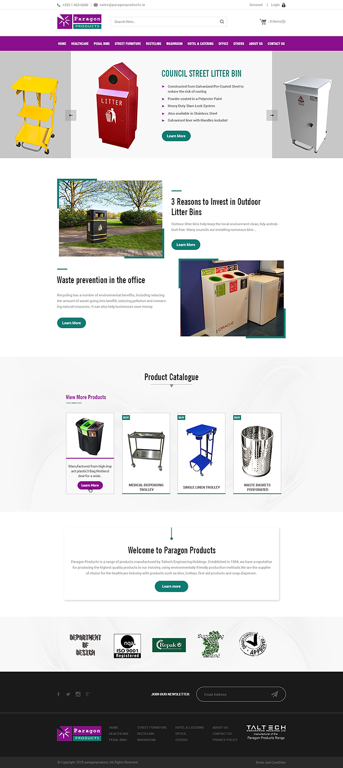 Bold, Modern, Manufacture Web Design for Cillianbc.com by PiXthemes ...