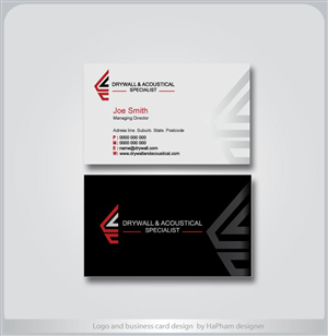 Business Card Design by Ha Pham - The Drywall & Acoustical Specialist Inc (DASI)
