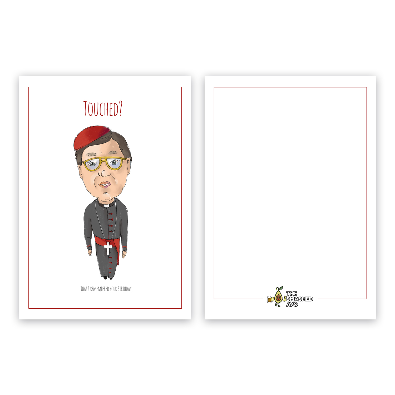 Elegant Playful Cardinal Greeting Card Design For The Smashed Avo