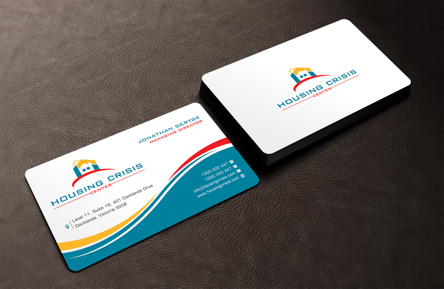 Colorful serious non profit business card design for housing business card design by sandaruwan for housing crisis center design 17942499 colourmoves