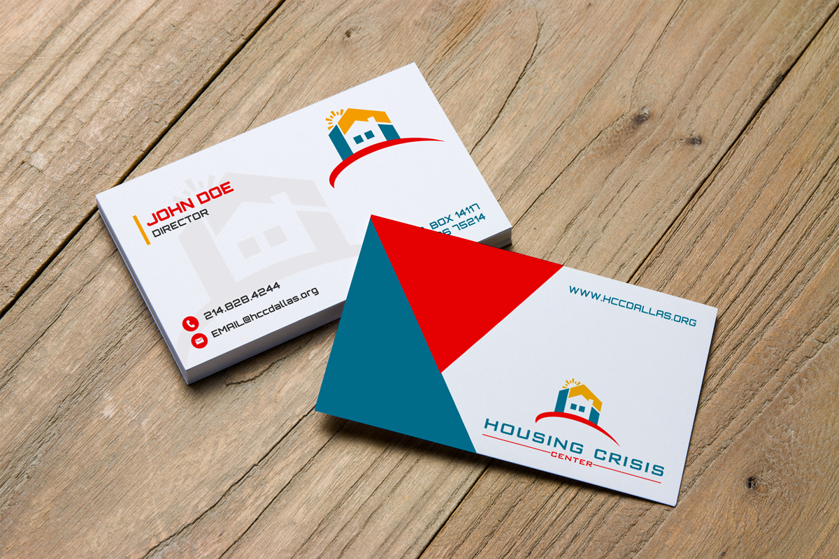 Colorful serious non profit business card design for housing business card design by jk18 for housing crisis center design 17942580 colourmoves