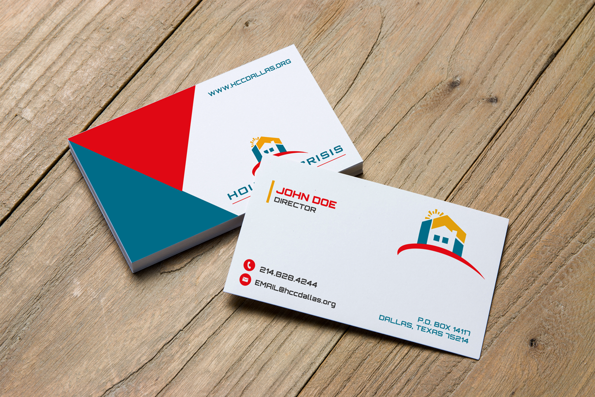 Colorful serious non profit business card design for housing business card design by jk18 for housing crisis center design 17950308 colourmoves