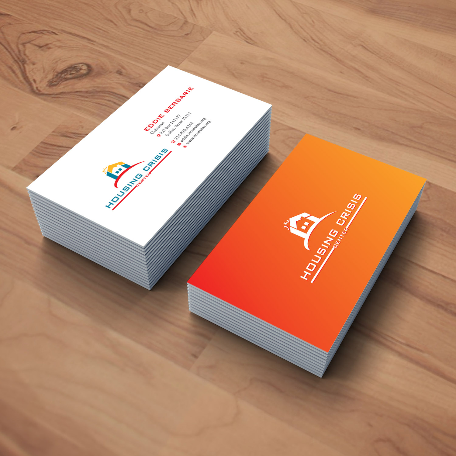 business card design by creative jiniya for housing crisis center design 17940076 - Non Profit Business Cards