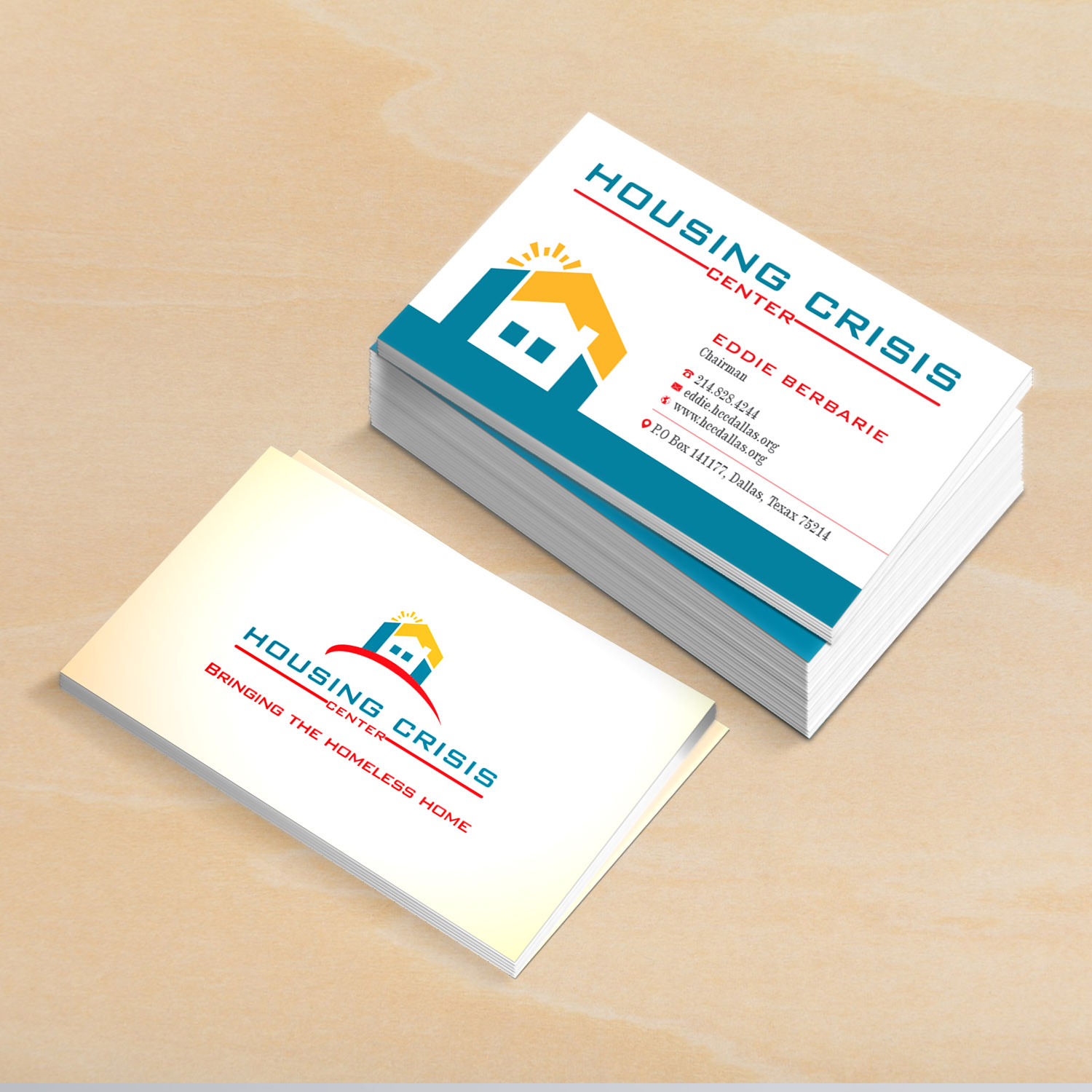 Colorful serious non profit business card design for housing business card design by creative jiniya for housing crisis center design 17951478 colourmoves