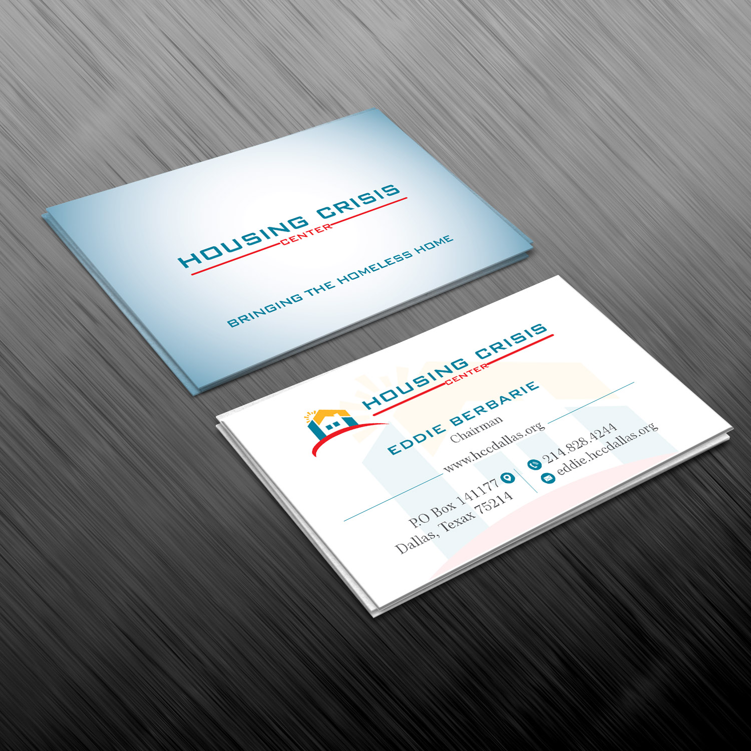 business card design by creative jiniya for housing crisis center design 17986143 - Non Profit Business Cards