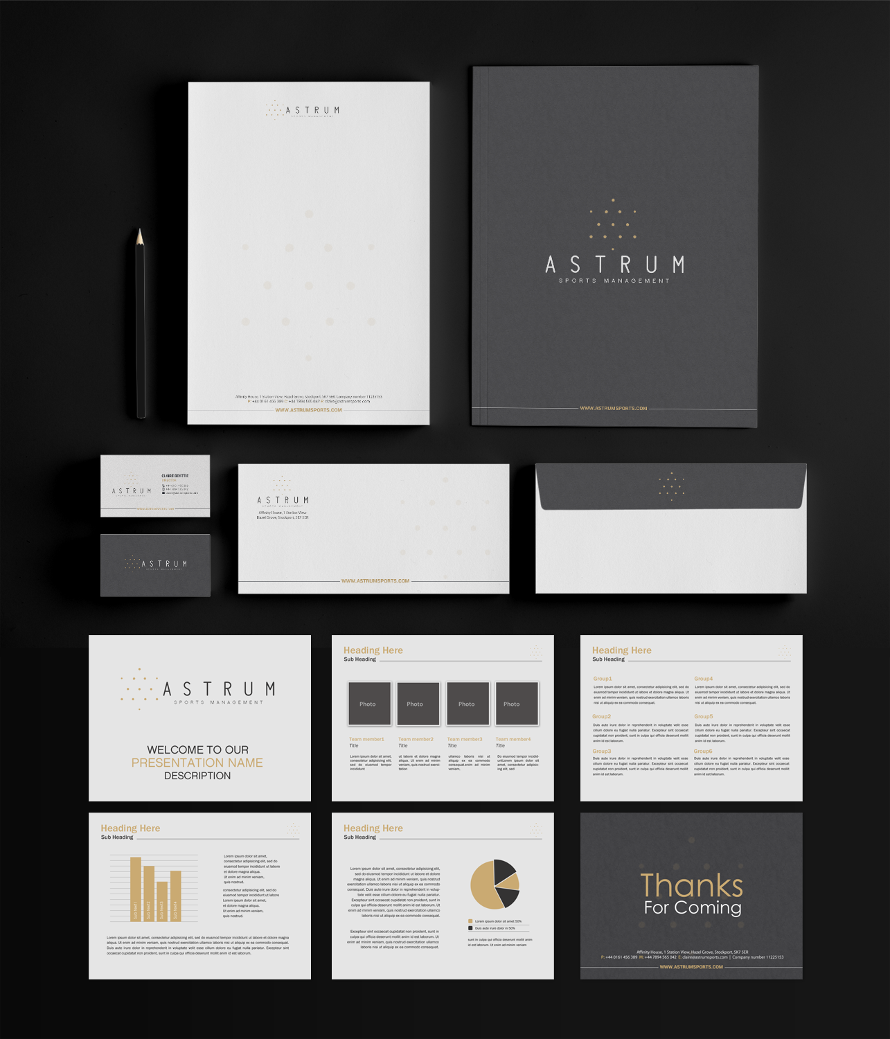 Upmarket modern stationery design for james rose by chandrayaan stationery design by chandrayaaneative for football and sports management agency stationary design reheart Images