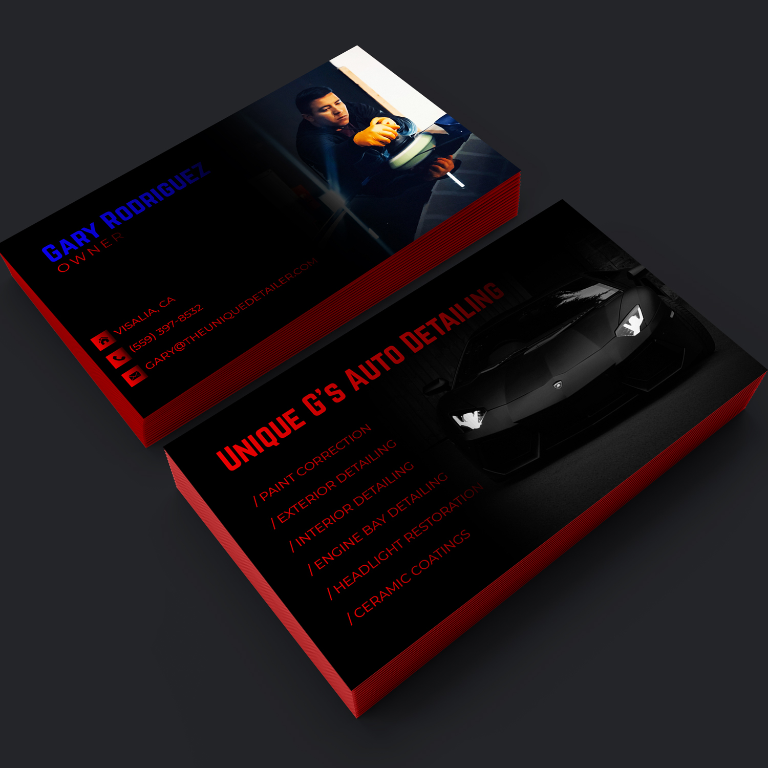 Modern professional automotive business card design for a company business card design by sandymanme for this project design 18079351 reheart Choice Image