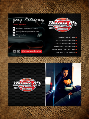 Automotive business card designs 420 automotive business cards to unique gs auto detailing new business cards business card design by sandaruwan reheart Image collections