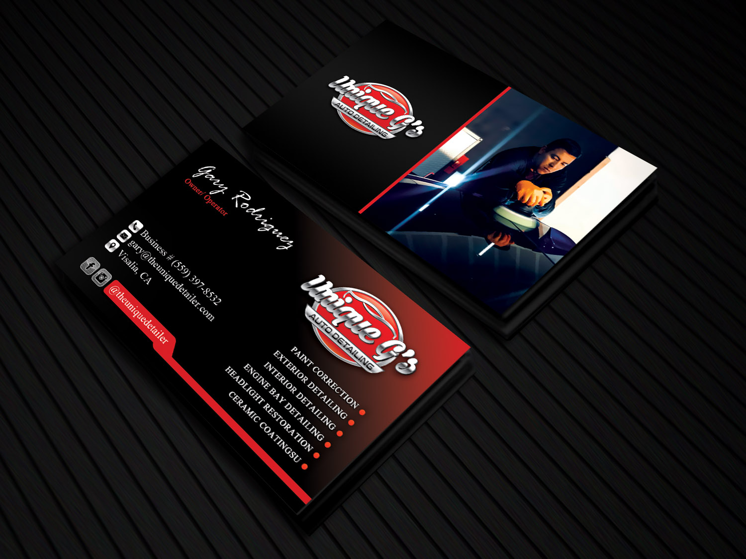 Modern professional automotive business card design for a company business card design by sandaruwan for this project design 18010976 reheart Choice Image