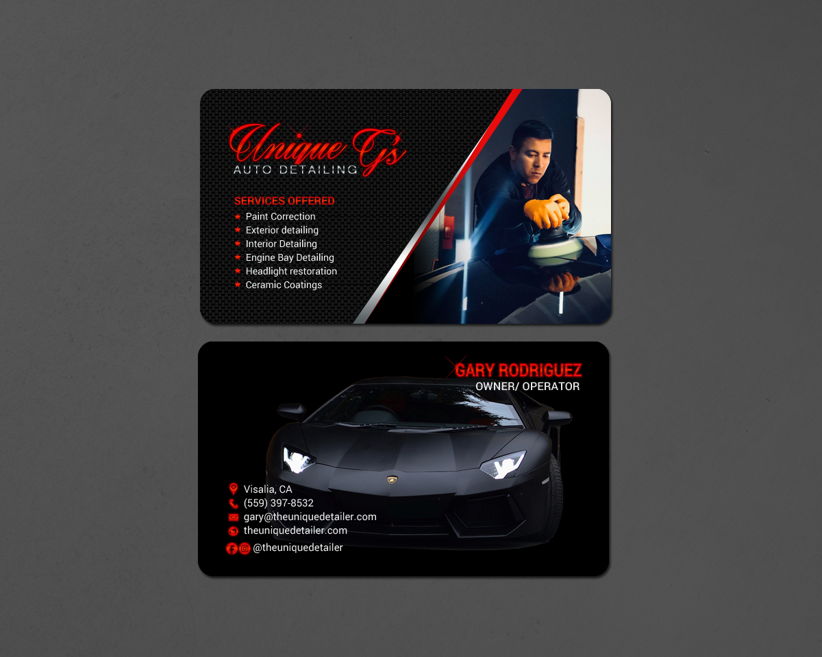Modern professional automotive business card design for a company business card design by chandrayaaneative for this project design 18086552 reheart Choice Image