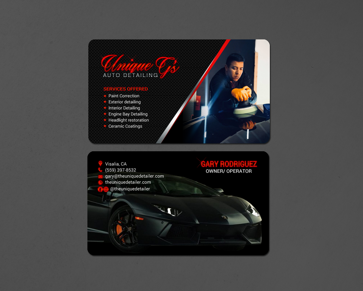 Modern professional automotive business card design for a company business card design by chandrayaaneative for this project design 18086554 colourmoves