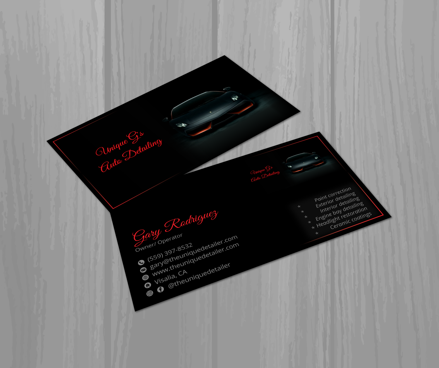 Modern professional automotive business card design for a company business card design by tanama creations for this project design 17991654 reheart Gallery
