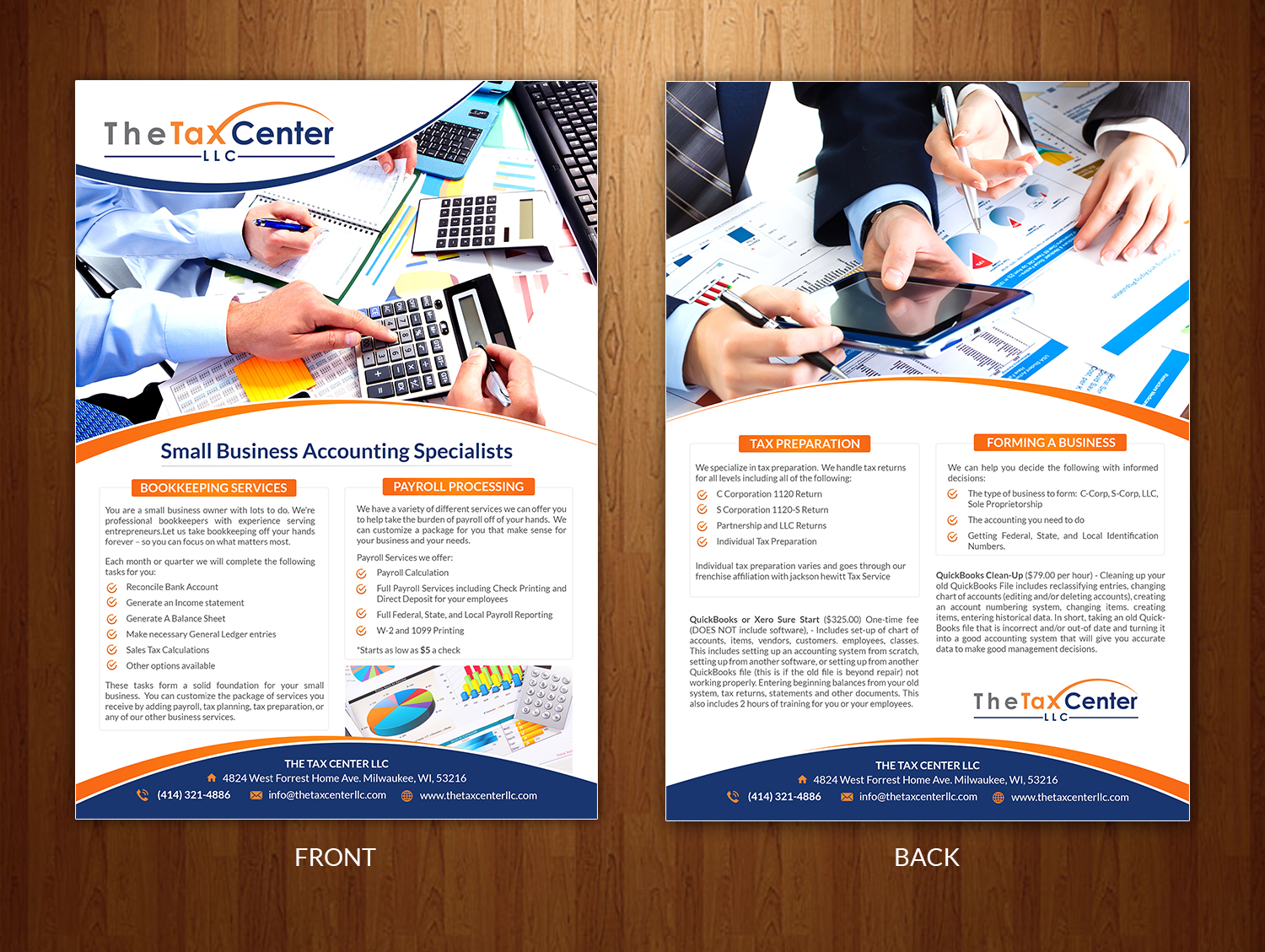 colorful bold accounting flyer design for a company by creative