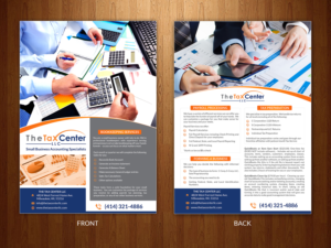 tax center flyer to attract clients flyer design by creativebugs