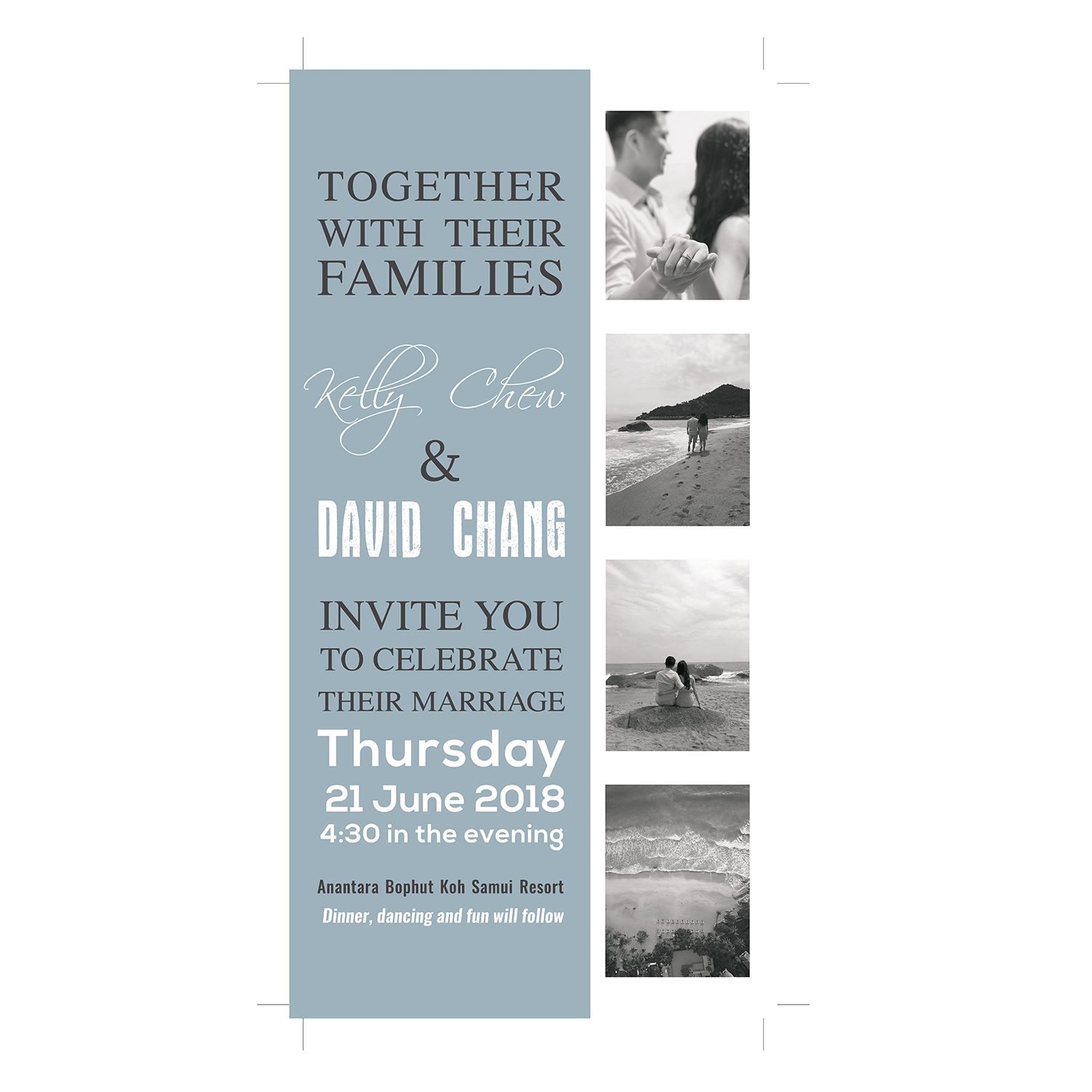 Modern personable wedding invitation design for a company by invitation design by karixen for this project design 18051177 stopboris Image collections