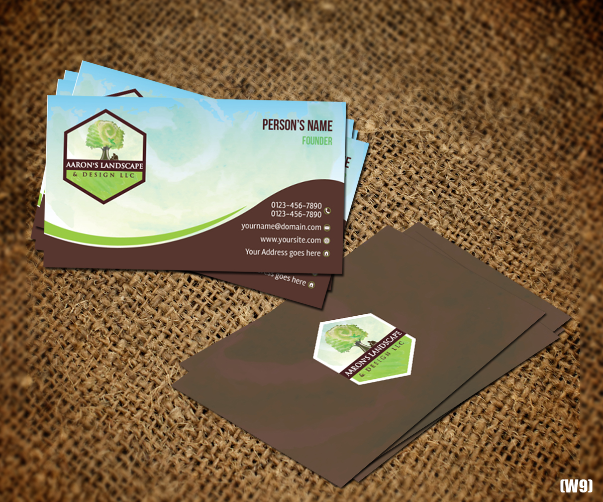 Business Card Design By Designanddevelopment For Aaron S Landscape And Llc 18002533