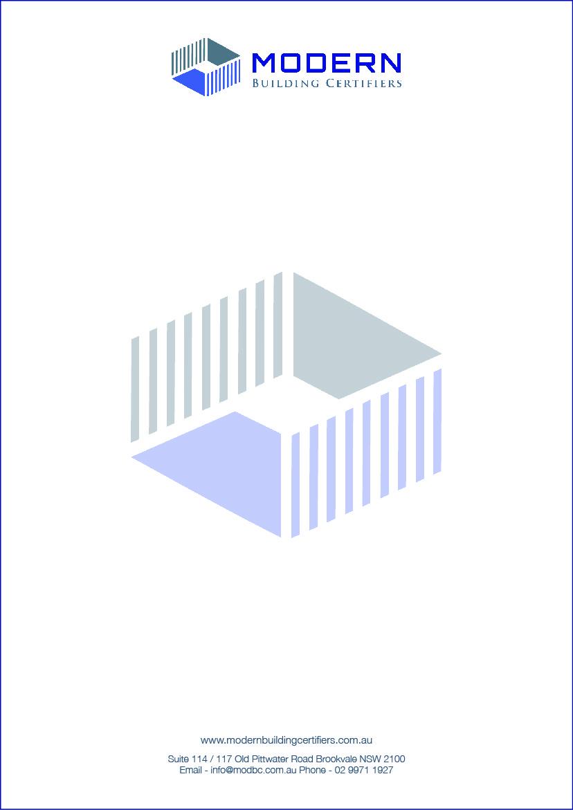 Serious Modern Letterhead Design For Modern Building Certifiers