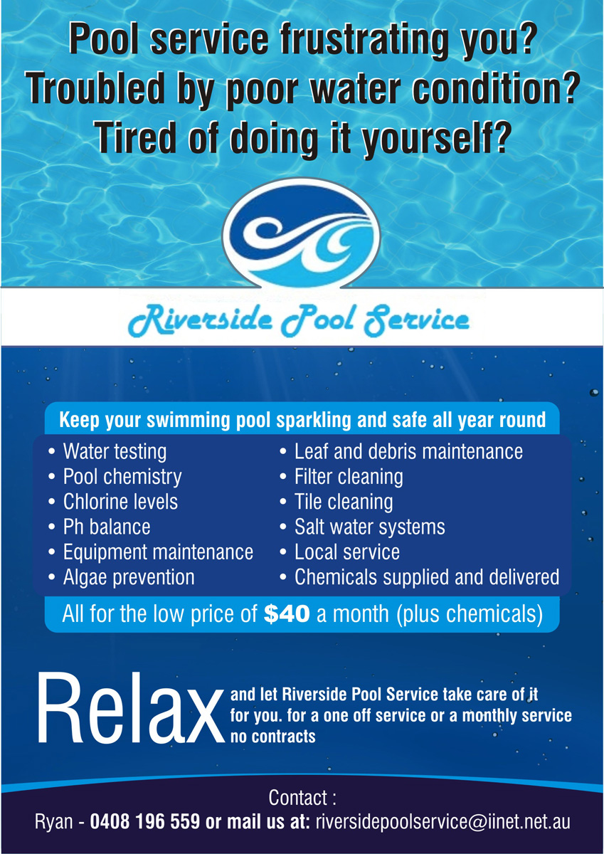 Swimming Pool Cleaning Service Flyer Ad Template Design Html Autos Weblog