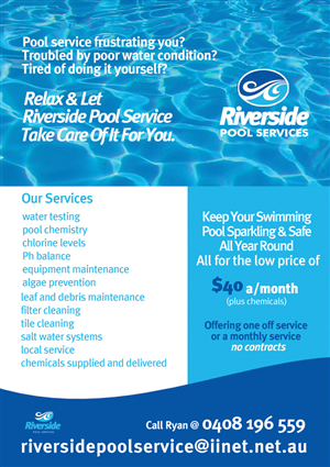 30 Serious Flyer Designs Pool Service Flyer Design