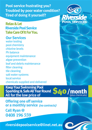 pool service flyers. Unique Service Flyer Design By JB For This Project  Design 662232 Throughout Pool Service Flyers E