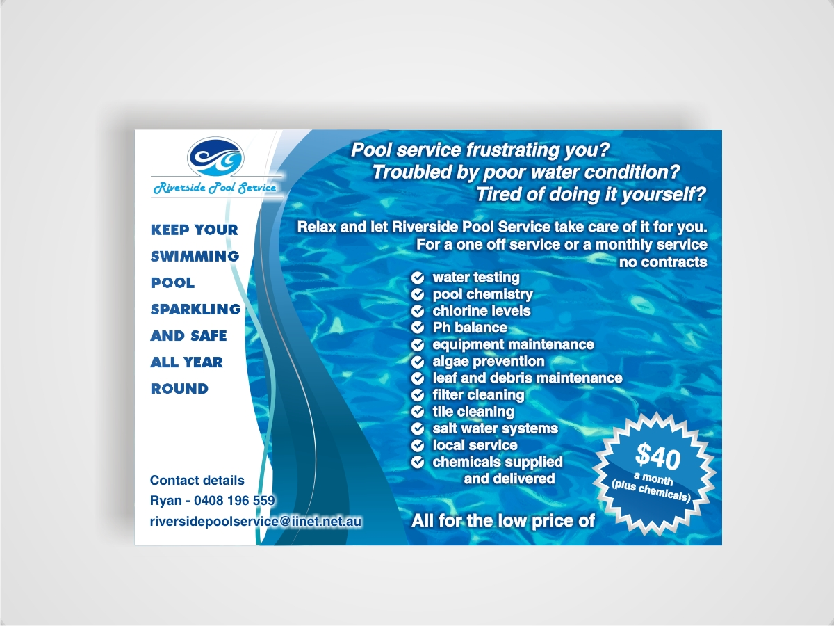 38 serious modern pool service flyer designs for a pool Create a blueprint