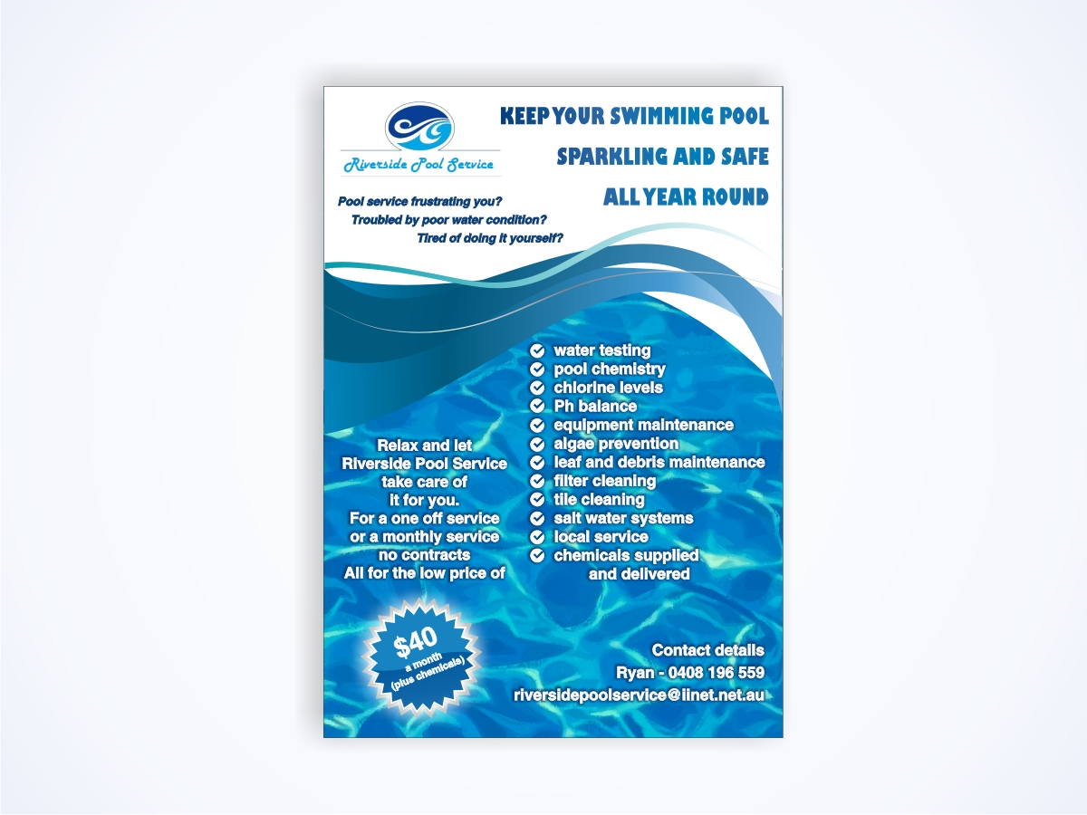 pool service flyers. Pool Service Flyer. Plain Flyer Design By Amduat For This Project 645987 In Flyers E