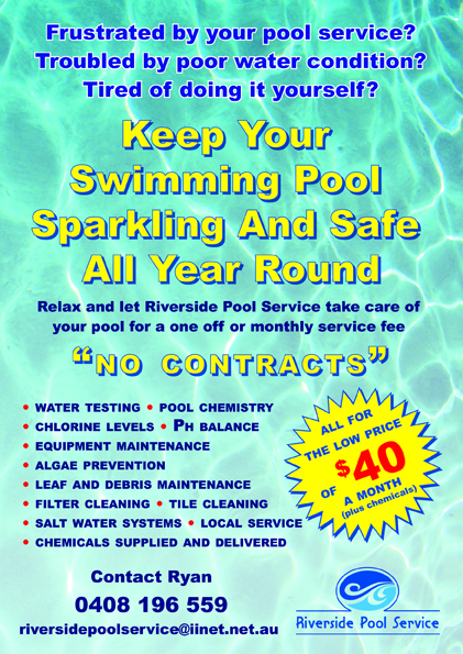 Swimming Pool Service Flyer Design : Serious modern flyer design for ryan murray by matters of