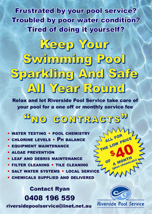 38 ernst modern pool service flyer designs for a pool service