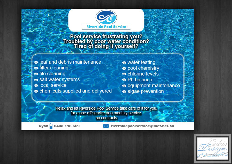 Serious Modern Pool Service Flyer Design for a Company by
