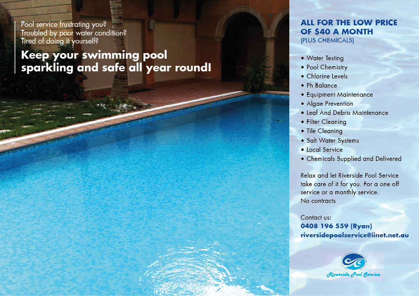 Serious modern pool service flyer design for a company for Pool design services